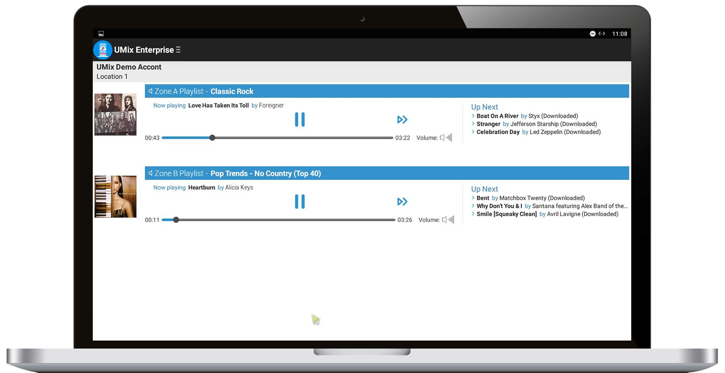 UMix 2-Zone Music Player for Windows; Android also available.